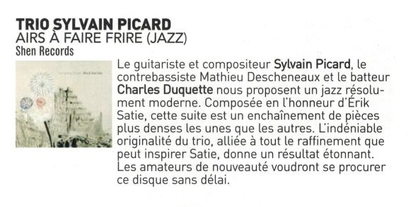 Par Gabriel Bélanger - Socan - Paroles & musique édition automne 2012